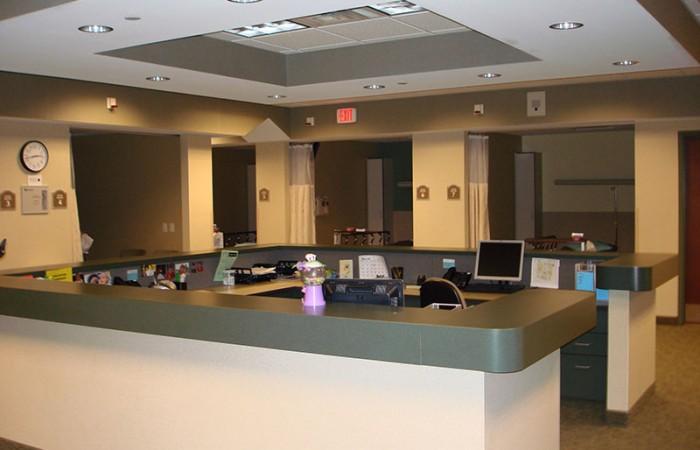 Riverwalk Center reception area, Krog Corp. project